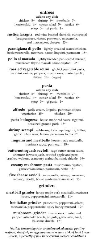 rustica italian restaurant & bar