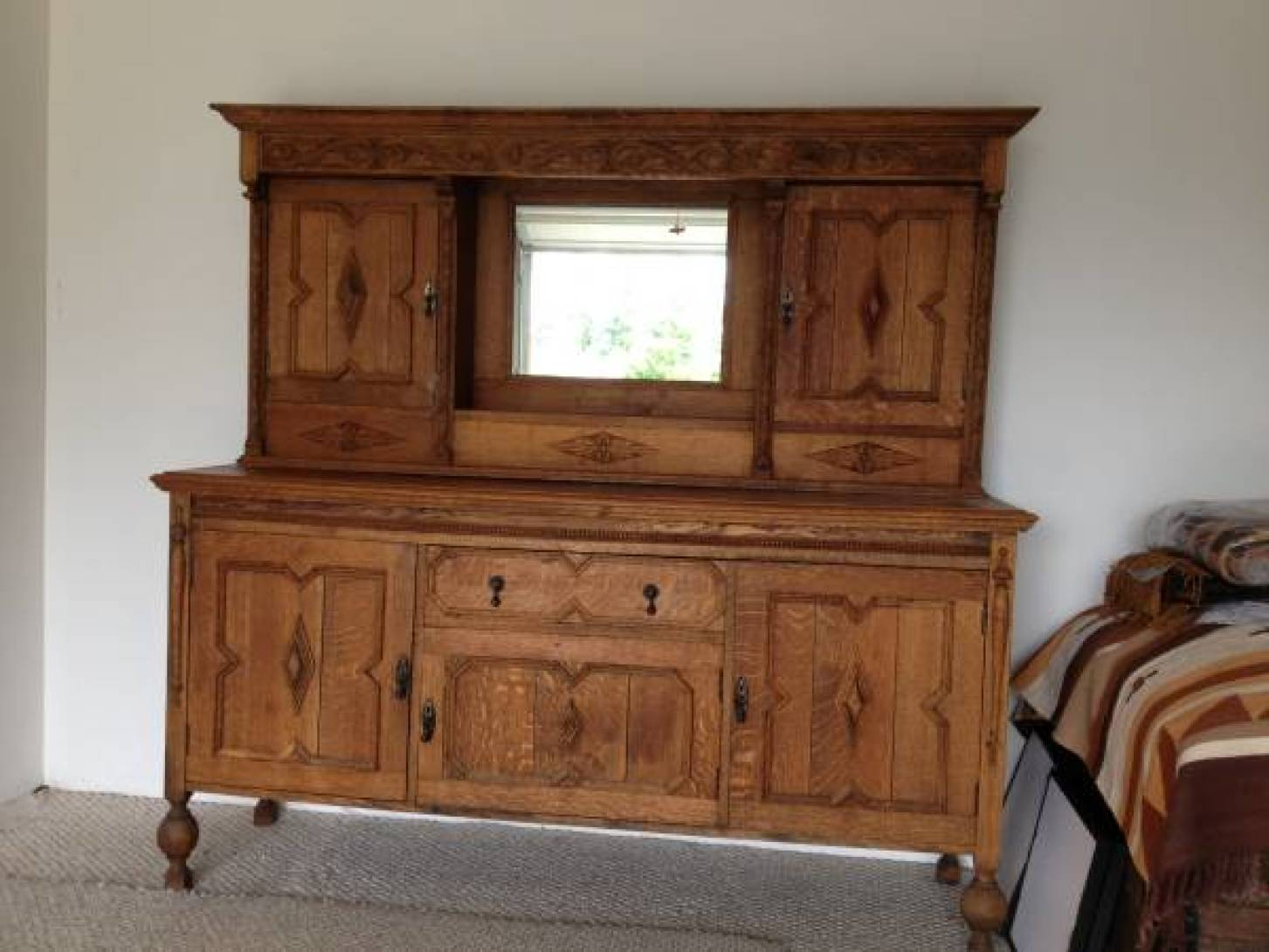 Lovely Antique Oak Sideboard - $750 (Freeland, Whidbey Island)